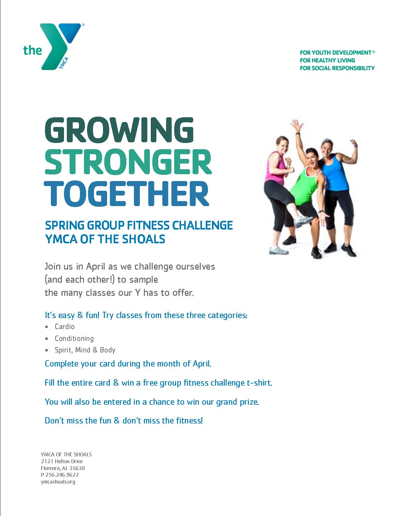 april is cardio challenge month ymca of the shoals